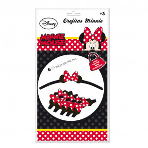 6 Orejitas Minnie Mouse