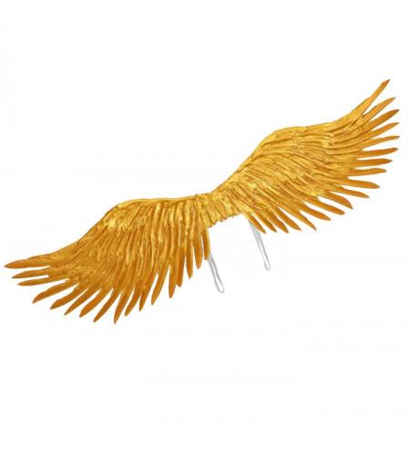 Alas con plumas doradas