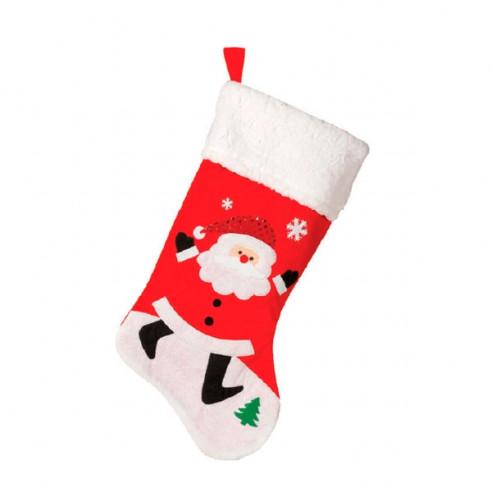 Calcetín navideño Papá Noel