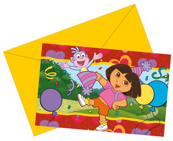 Invitaciones cumpleaños Dora Exploradora