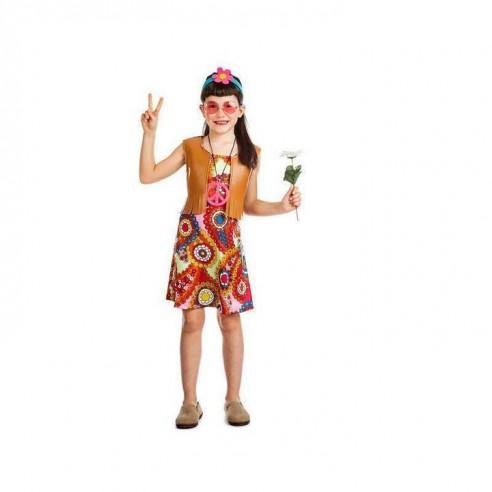Disfraz Hippie niña con chaleco