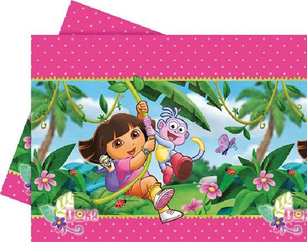 Mantel cumpleaños Dora Exploradora