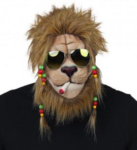 Máscara de León con rastas