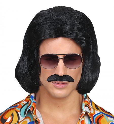 Peluca y bigote años 70