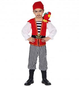 Disfraz pirata niño con loro