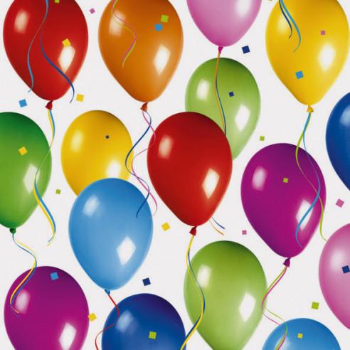 20 servilletas cumpleaños Globos
