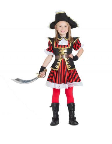 Disfraz pirata infantil niña