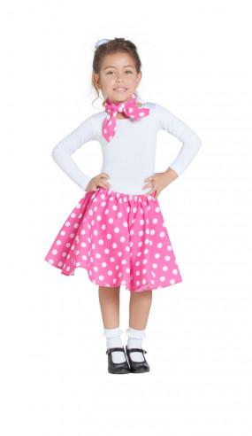 Disfraz falda y pañuelo rosa años 50...
