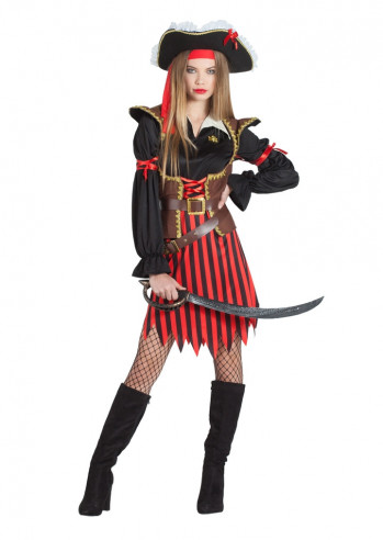 Disfraz pirata para mujer deluxe