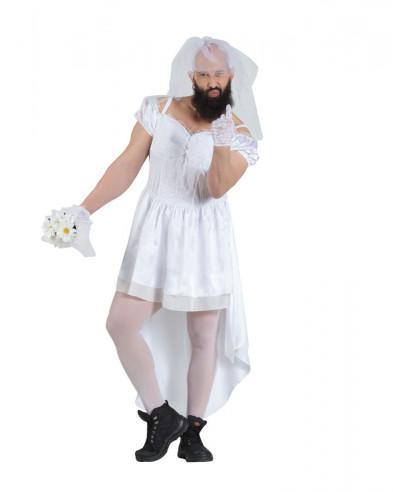Disfraz novia para hombre
