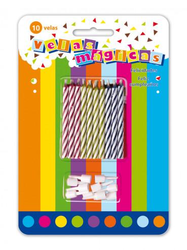 10 Velas cumpleaños magicas