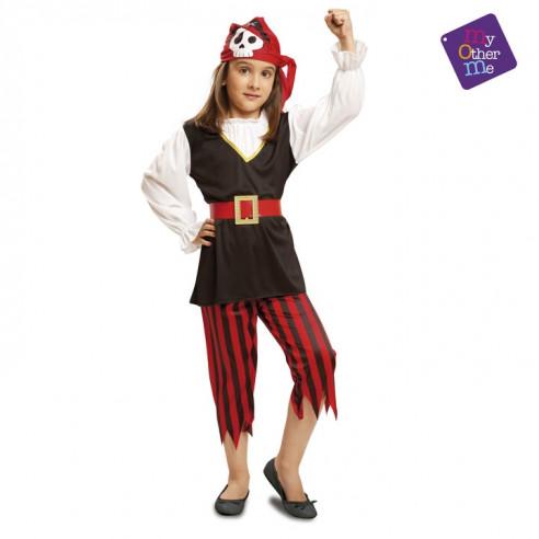 Disfraz pirata calavera infantil niña