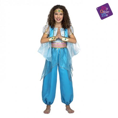 Disfraz princesa árabe infantil azul