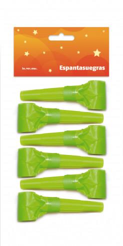 6 espantasuegras verdes