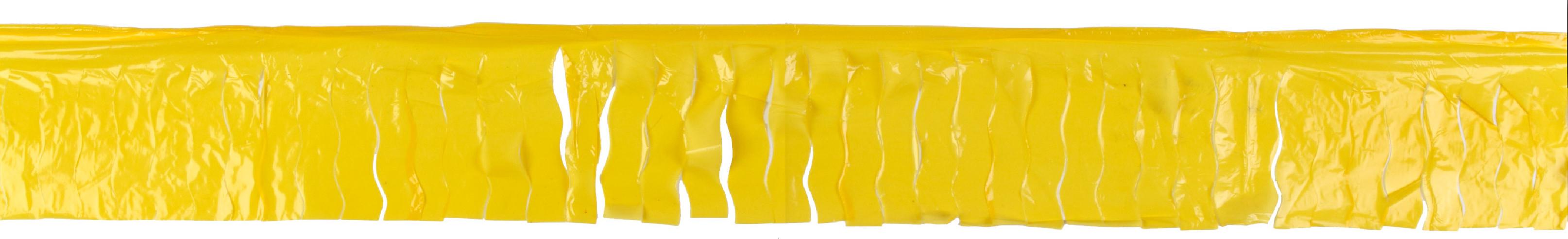 Fleco plastico amarillo 25 metros