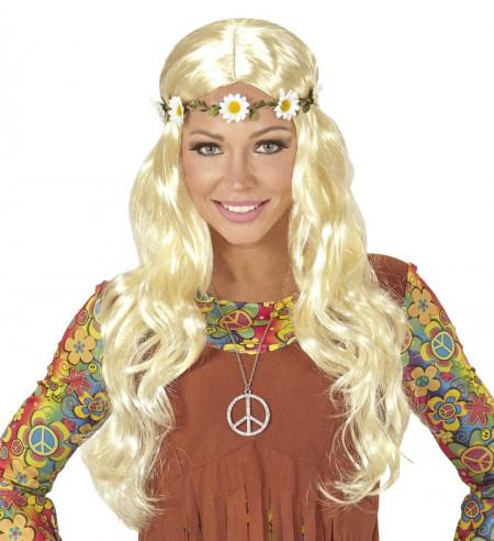 Peluca hippie rubia