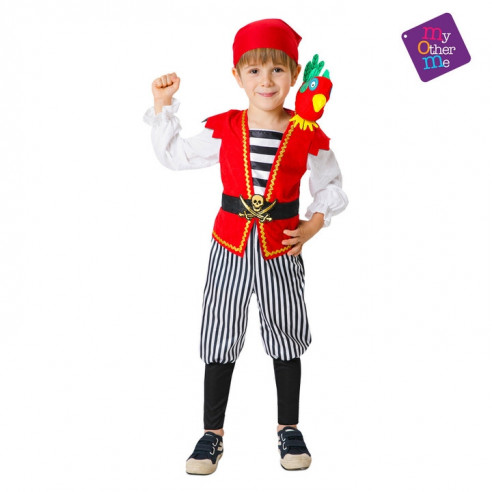 Disfraz pirata caribeño infantil