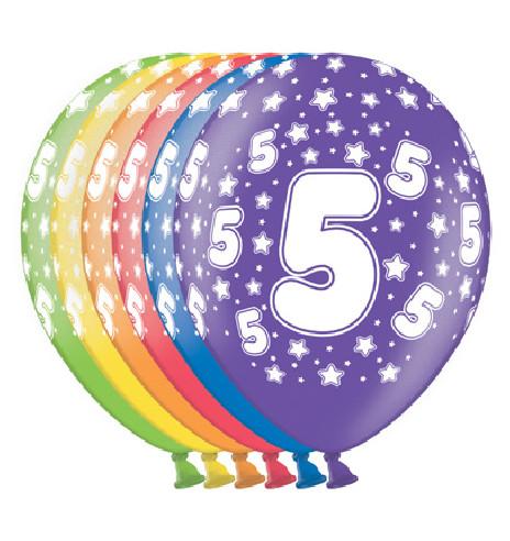 6 Globos Nº5 30 cm