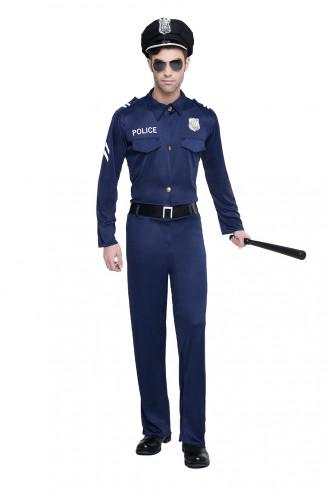 DISFRAZ POLICIA MANGA LARGA