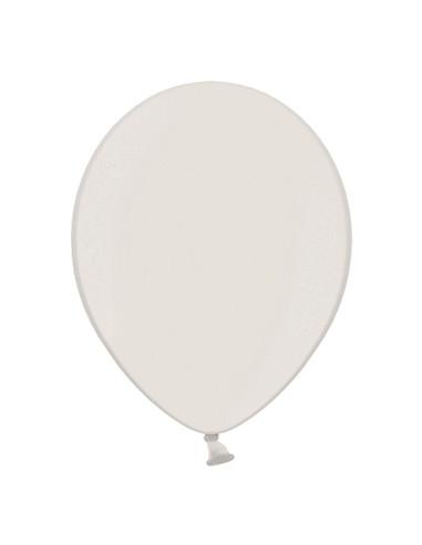 50 Globos Metalizados perla 30 cm
